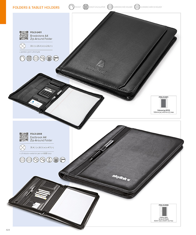Buy Quality, Affordable Eastbrook A4 Zip-Around Folder Online